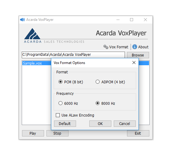 Acarda Vox File Player